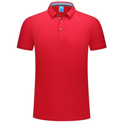 丝光棉POLO衫9808红