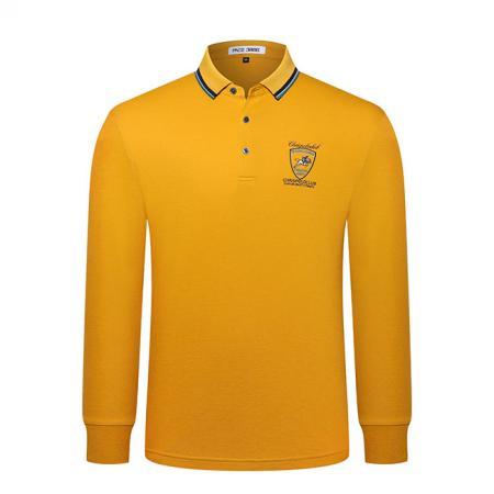 长袖POLO衫9811黄色